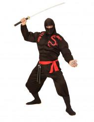 Svart muskulös ninja - utklädnad vuxen