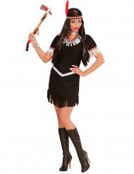 Svart och vit indianinspirerad kostym dam