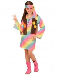 Pastellfärgad hippiedräkt för barn