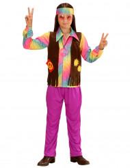 Multifärgad hippiedräkt för barn