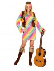 Pastell  Hippie  - utklädnad vuxen