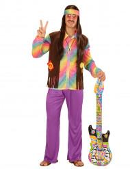 Pastellfärgad Hippie - Maskeraddräkt för vuxna
