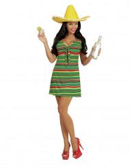 Kostym mexikoinspirerad klänning dam