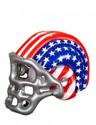 Uppblåsbar amerikansk fotbollshjälm med flagga vuxen