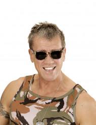 Kamouflagefärgade mörka glasögon