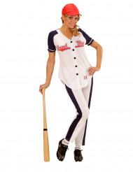 Kostym för baseballspelerska