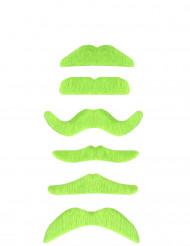 1 Neongrön mustasch