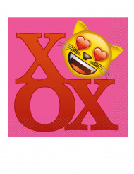 20 emoji servetter 33x33cm