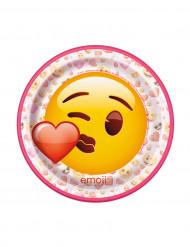 8 små kartongtallrikar från Emoji™ 17,5 cm