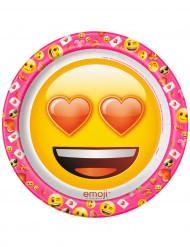8 Emoji™ kartongtallrikar 22cm