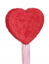 Röd hjärtformad pinata 56cm
