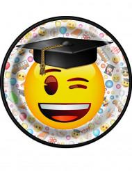 8 små tallrikar i kartong från Emoji™ 17,1 cm