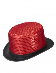 Röd cylinderhatt