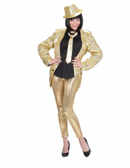 Guldfärgade leggings med paljetter vuxna