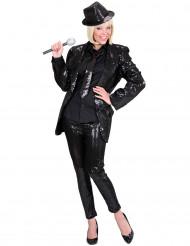 Svarta leggings med paljetter vuxna