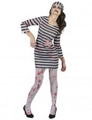 Kostym för fängelseintern-zombi dam