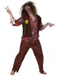 Kostym för zombihippie herrar