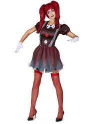 Kostym som skräckinjagande docka dam