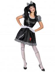 Kostym för docka med brustet hjärta dam