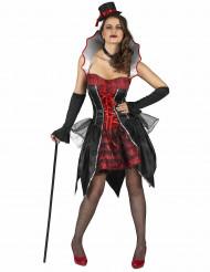Kostym som grevinnan Dracula dam