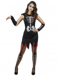 Kostym för levande skelett med hjärta dam