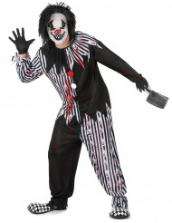 Kostym för psykopatisk clown herrar