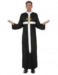 Prästkostym med vitt kors herrar
