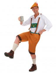 Oktoberfest kille i brun bralla
