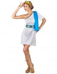 Blå kostym för Greklandsinspirerad kejsarinna dam