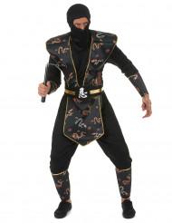 Kostym Ninja Gulddrake herrar