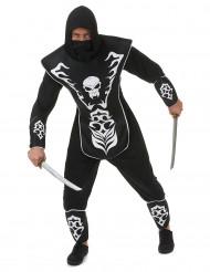 Kostym ninja skelett herrar