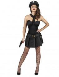 Kostym som sexig polis dam