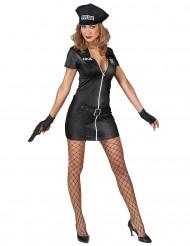 Kostym som busig polis dam
