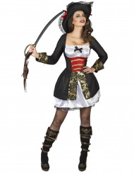 Kostym som sexig sjörövare dam