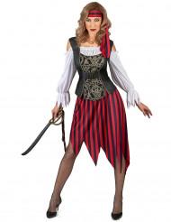 Kostym som zigeniskinspirerad pirat dam