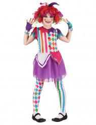 En färggrann harlekin - Maskeraddräkt för barn