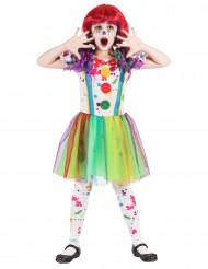 Målfärgstäckt clowndräkt för barn