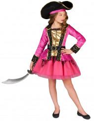 Piratkostym i rosa och guld