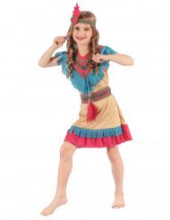 Färggrann indiantjej - Maskeraddräkt för barn