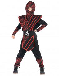 Röd-svart ninjadräkt för barn