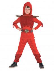 Royal röd ninaja - Maskeraddräkt för barn