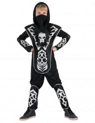 Ninjadräkt med dödskalle för barn