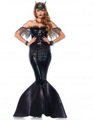 Kostym som svart ond sjöjungfru