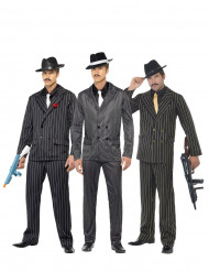 Grupp med gangsters gruppdräkt herr
