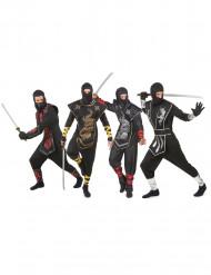 Fyra Ninjas - Gruppdräkt för vuxna