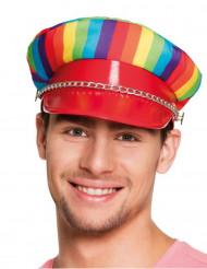 Mångfärgad hatt för vuxna