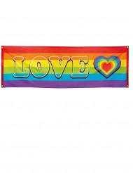 Love regnbågsfana 74x220 cm