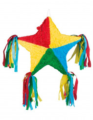 Multifärgad stjärnformad piñata