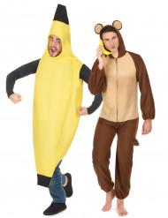 Apan & Bananen - Pardräkt för vuxna