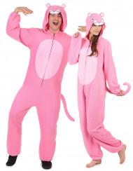Dubbelt upp i rosa pantrar - Pardräkt för vuxna